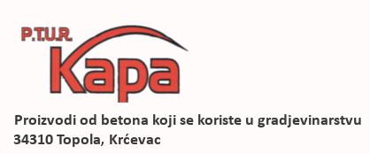 Kapa - Betonska galanterija